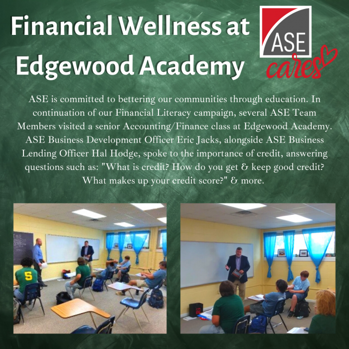 Financial Wellness At Edgewood Academy